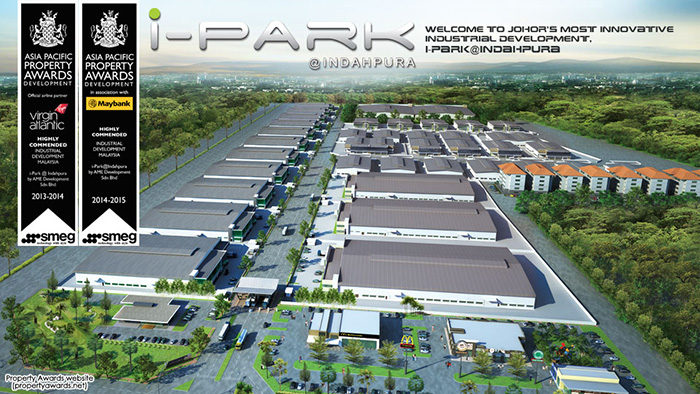 Semi Detached Factory at iPark @ Indahpura For Sale