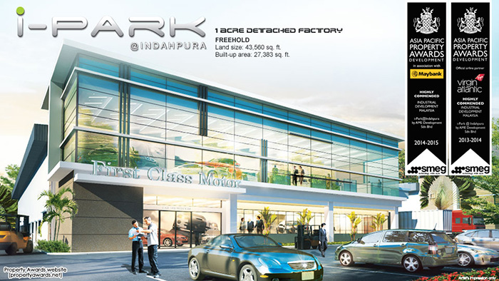Detached Factory At iPark@Indahpura For Sale