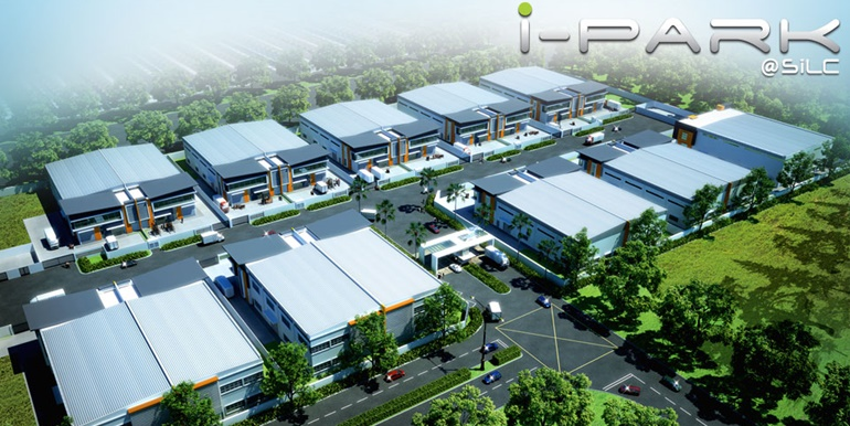 Semi Detached Factory With Extra Land at iPark @ SiLC For Rent